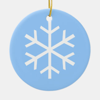 Snowflake Ceramic Ornament