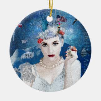 Snowflake Ceramic Ornament
