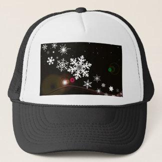 Snowflake Christmas Background Trucker Hat