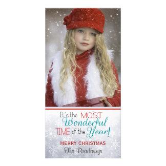 Snowflake Christmas Custom Photo Card