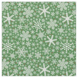Snowflake Christmas   Holiday Fabric