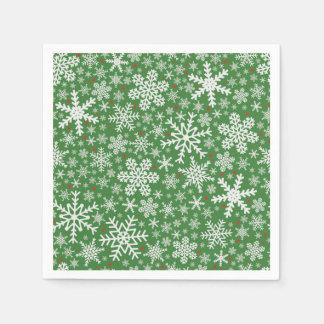 Snowflake Christmas | Holiday Napkins Paper Napkins