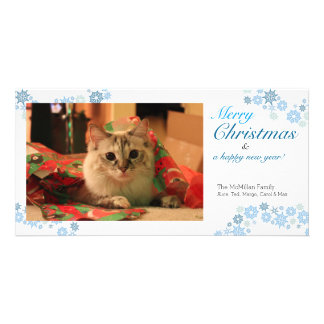 Snowflake Christmas Horizontal Photo Card