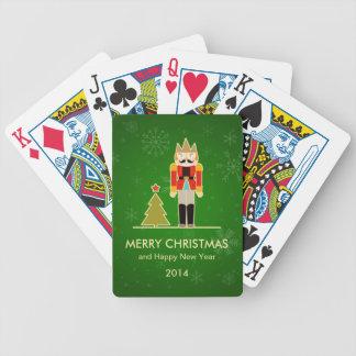 Snowflake Christmas - Nutcracker Holiday Greeting Poker Deck