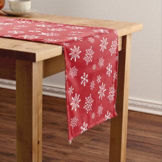 Snowflake Christmas pattern Short Table Runner