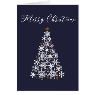 Snowflake Christmas Tree Festive Greeting Card