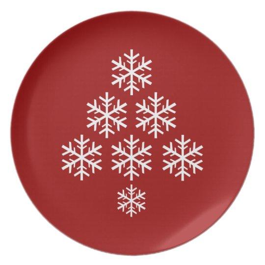 Snowflake Christmas Tree ~ Holiday Plate