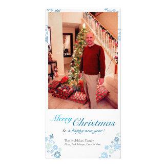 Snowflake Christmas Vertical Photo Card