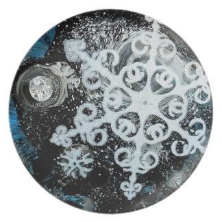 Snowflake, Christmas, white Winter, Plates