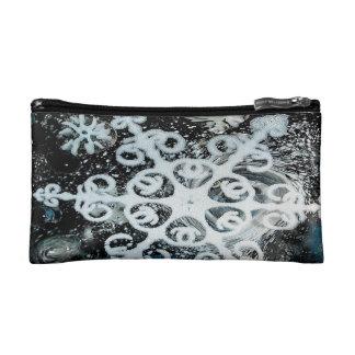 Snowflake, Christmas, white Winter, snow Cosmetic Bags