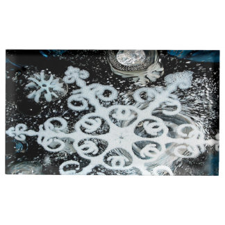 Snowflake, Christmas, white Winter, snow Table Card Holders