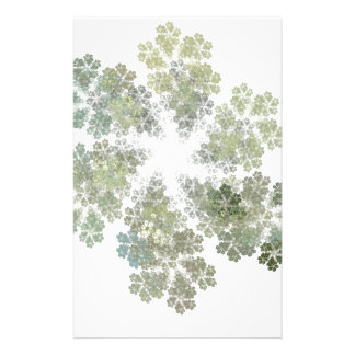 Snowflake Clusters Custom Stationery