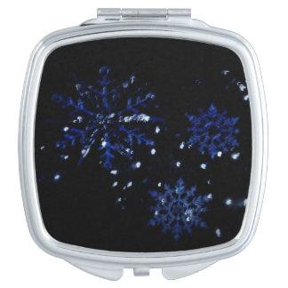 Snowflake Compact Vanity Mirror
