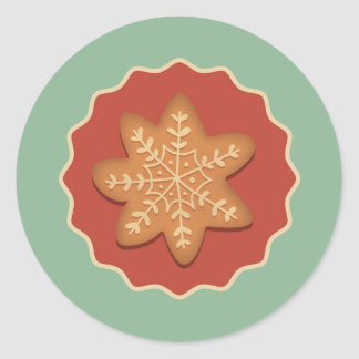 Snowflake Cookie Stickers