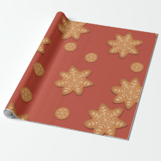 Snowflake Cookie Wrapping paper