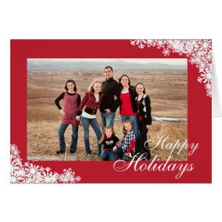 Snowflake Corner Holiday Photo Card