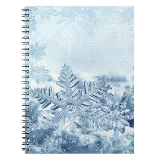 Snowflake Crystals Notebook