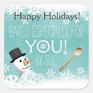 Snowflake Custom Baking Stickers