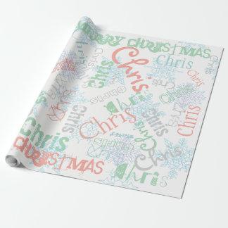Snowflake Custom Gift Wrap Color and Name Change