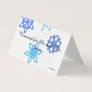Snowflake Customizable Table/Place Card Holder