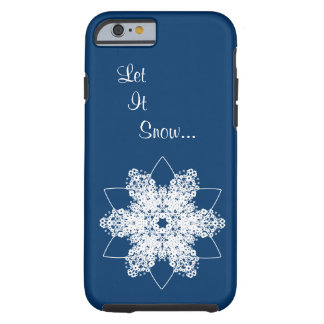 Snowflake Design 7 Tough iPhone 6 Case
