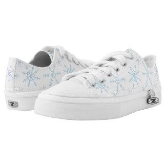 Snowflake design low top sneakers