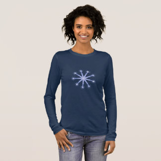 Snowflake design  on blue t-shirt