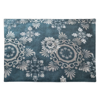 Snowflake design placemat