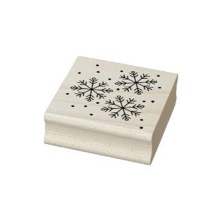 Snowflake Design Rubber Stamp