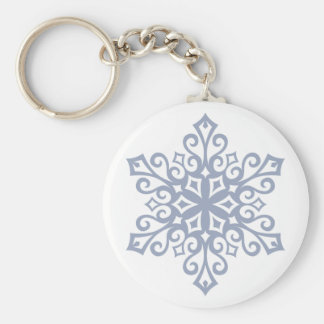 Snowflake Design Winter Keychain