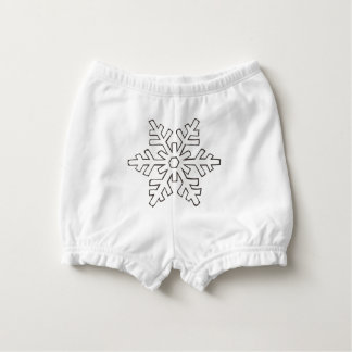 Snowflake Diaper Cover