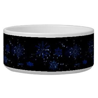 Snowflake Dog Bowl