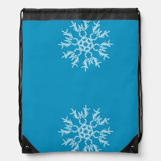 Snowflake Drawstring Backpack