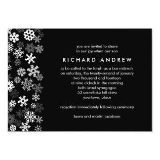 Snowflake Edge Bar Mitzvah Card