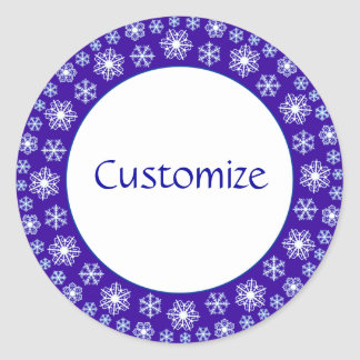 Snowflake factory Template Classic Round Sticker