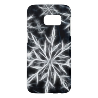 Snowflake feather look, winter style samsung galaxy s7 case