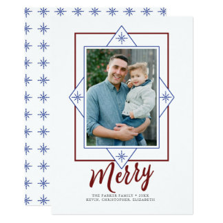 Snowflake Frame Holiday Photo Card