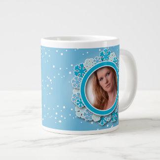 Snowflake frame jumbo mug
