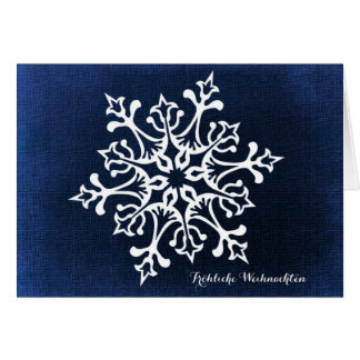 Snowflake Fröhliche Weihnachten Card
