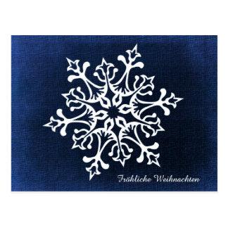 Snowflake Fröhliche Weihnachten Postcard