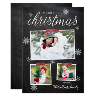 Snowflake Fun Christmas Photo Card