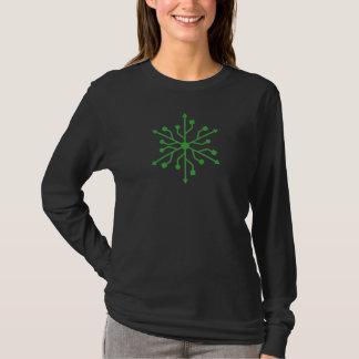 Snowflake Geek - USB Green T-Shirt