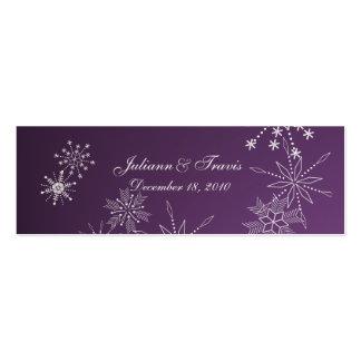 Snowflake Gems/ seating card Business Card