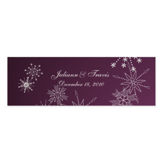 Snowflake Gems/ seating card Mini Business Card