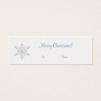 Snowflake Gift Tag Mini Business Card