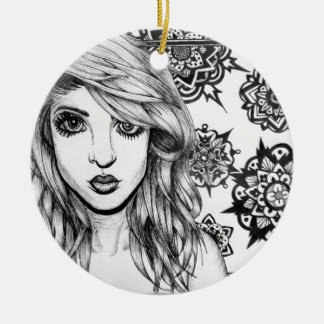 Snowflake Girl Ceramic Ornament