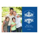 Snowflake Holiday Photo Card Custom Invite