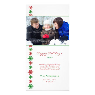 Snowflake Holiday Photo Cards