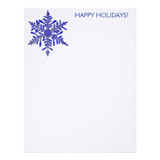 Snowflake Holiday Stationary Letterhead