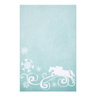 Snowflake Horse Holiday Christmas Personalized Stationery